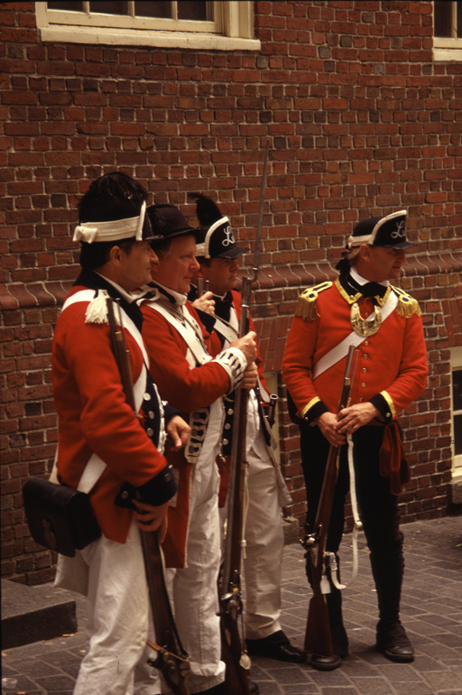 Redcoats Boston reenactment
